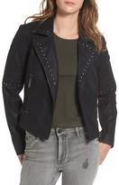 BP Women's Studded Faux Leather Moto Jacket