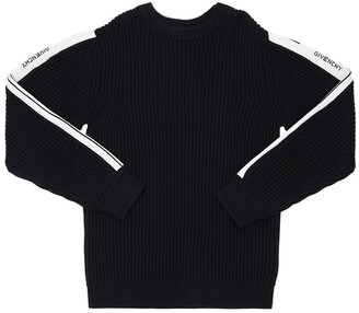 Givenchy Ribbed Knit Cotton & Cashmere Sweater