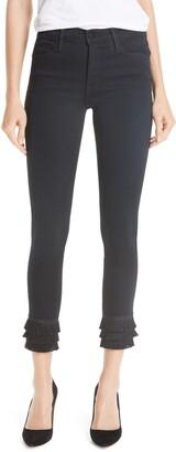 Frame Le High Fringe Hem Skinny Jeans