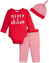 First Impressions Baby 3-Pc. Made With Love Hat, Bodysuit & Pants Set, Only at Macy's