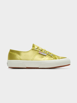 Superga 2750 Satin Sneakers in Green Lime