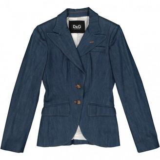 Dolce & Gabbana Blue Cotton Jackets