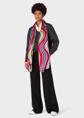 Paul Smith Women's Long 'Swirl' Silk Scarf