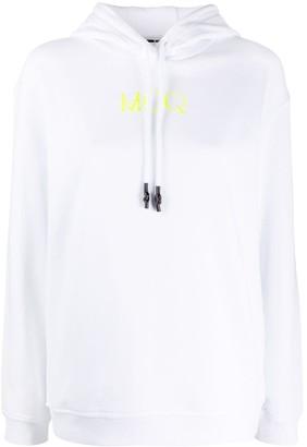 McQ Logo-Print Oversized Hoodie