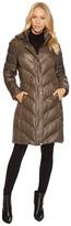 Lauren Ralph Lauren Chevron Packable w/ Faux Suede Women's Coat