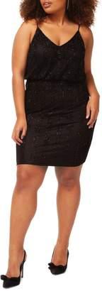Dex Plus Beaded V-Neck Dress