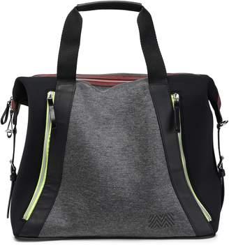 Monreal London Leather-trimmed Paneled Neoprene Weekend Bag
