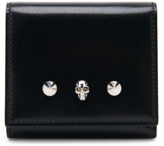 Alexander McQueen Small Skull Tri-Fold Leather Wallet