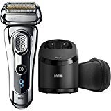 Braun Series 9 9290CC Wet & Dry Electric Shaver for Men with Clean & Charge System, Premium Silver Cordless Razor, Razors, Shavers, Pop up Trimmer, Travel Case