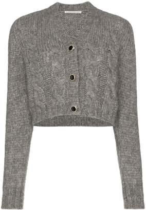 Alessandra Rich jewel-button cropped cardigan