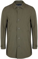 Herno Army Green Shell Trench Coat
