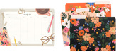 Rifle Paper Co. Lively Floral File Folders + Desktop Weekly Pad