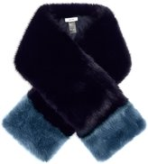Reiss Irving - Faux-fur Scarf in Blue, Womens
