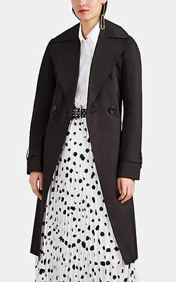 THE LOOM Women's Cotton Twill A-Line Trench Coat - Black
