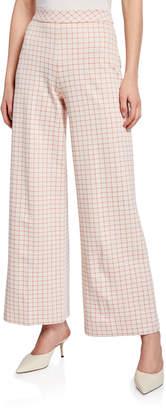 Rosetta Getty Grid Interlocked Trousers