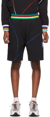 Li-Ning Black and Multicolor Sweat Shorts