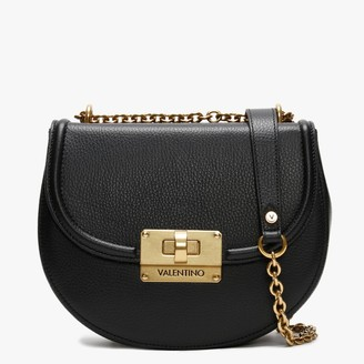 Mario Valentino Valentino By Chicago Special Black Grainy Leather Satchel Bag