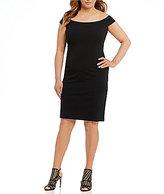 Vince Camuto Plus Off-the-Shoulder Scuba Crepe Bodycon Dress