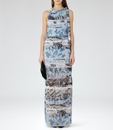 Reiss Ezra Printed Maxi Dress