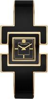 Tory Burch T Bangle Watch, Black/Gold-Tone/Black, 25 Mm