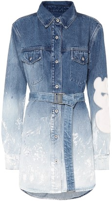 Off-White Off White Belted denim shirt dress