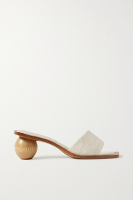 Cult Gaia Tao Canvas Sandals - Cream