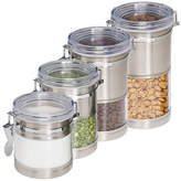 Honey-Can-Do 4-Pack Stainless & Acrylic Canisters