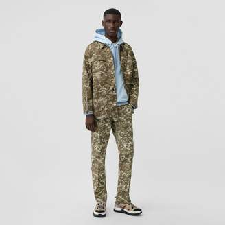 Burberry Camouflage Print Cotton Gabardine Field Jacket
