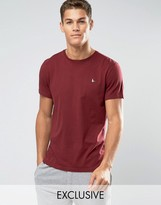 Jack Wills Sandleford Regular Fit T-Shirt in Burgundy