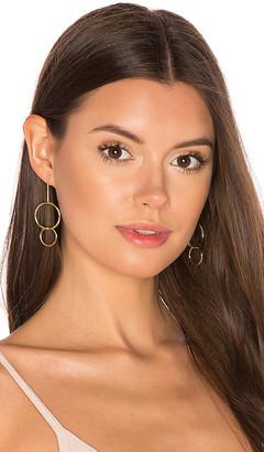joolz by Martha Calvo Double Drop Hoop Earrings