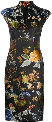 Etro Metallic Floral Print Dress