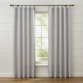 Crate & Barrel Largo Grey Linen Curtain Panels