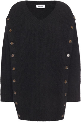 Each X Other Button-detailed Ribbed-knit Sweater