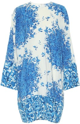 Valentino printed silk crepe de chine minidress