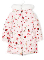 Dolce & Gabbana ladybug print down coat