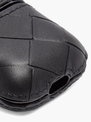 Bottega Veneta Intrecciato Leather Airpods Case - Black