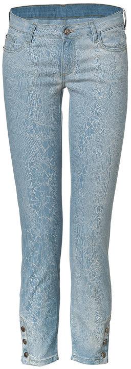 Faith Connexion Light Blue Cotton Slim Jeans with Ankle Snaps