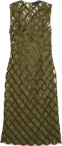 Simone Rocha Embroidered layered tulle midi dress
