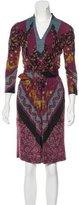 Etro Wool Belted Dress