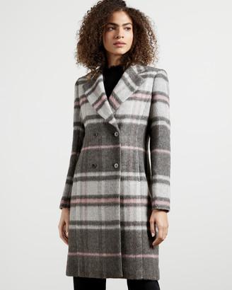 Ted Baker TANIIAA Chevron Wool Midi Coat