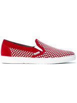 Jimmy Choo star embellished sneakers - men - Calf Leather/Leather/rubber - 40
