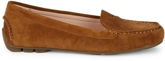 Taryn Rose Kacey Waterproof Suede Loafers