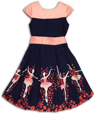 Joe Ella Ballerina Print Dress (Toddler, Little Girls, & Big Girls)