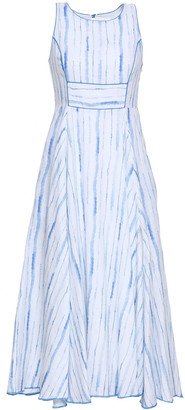 Gül Hürgel Striped Linen Midi Dress