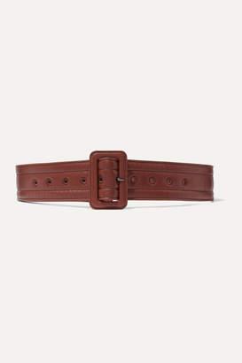 Dries Van Noten Quilted Leather Belt - Brick