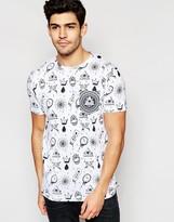 Brave Soul All Over Evil Eye Print T-shirt