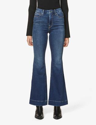 Good American Good Flare high-rise stretch-denim jeans
