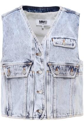 MM6 MAISON MARGIELA Cropped Denim Vest