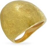 Torrini Elena - Flamed 18K Yellow Gold Shield Ring