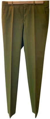Hermã ̈S HermAs Green Wool Trousers
